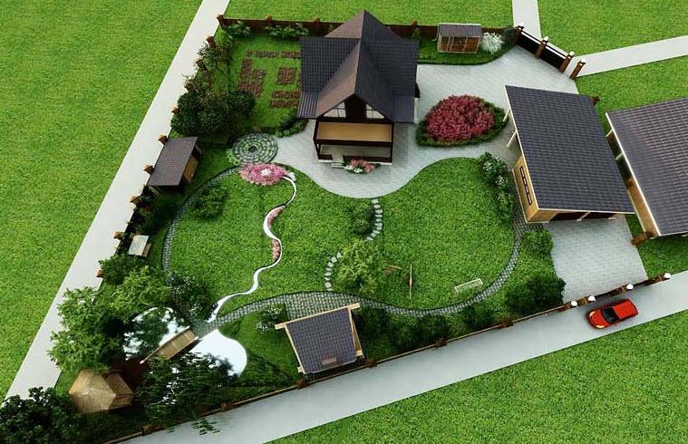 Двухуровневый участок ландшафтный дизайн проект